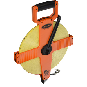 Keson 100M Double Sided Fiberglass Tape Measure With Hook Units: m, cm,5mm/m,cm, 2mm