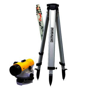 Duratech Auto Level 24X Package Includes Dome Tripod And Rod