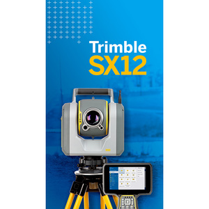 Trimble SX12 Scanning/Robotic Total Station Bundle -SX12 With Standard and Laser Pointer Configuration without Software